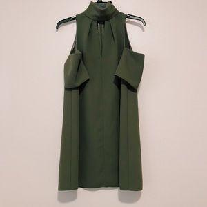 NWT Topshop olive green cold shoulder mini